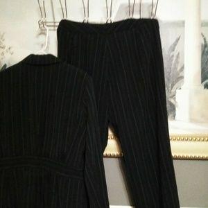 Signature by Larry Levine Dresses - Womans Signature By Larry Levine Blue W/Pinstripe